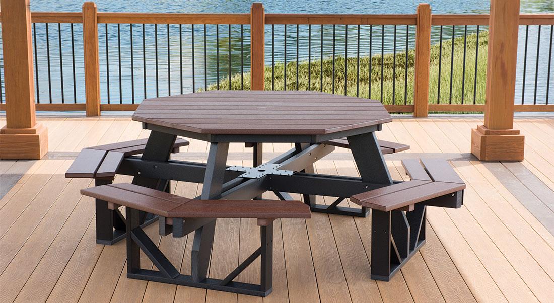 Fantastic Poly Outdoor Picnic Tables Kauffman Lawn Furniture In Ohio Spiritservingveterans Wood Chair Design Ideas Spiritservingveteransorg