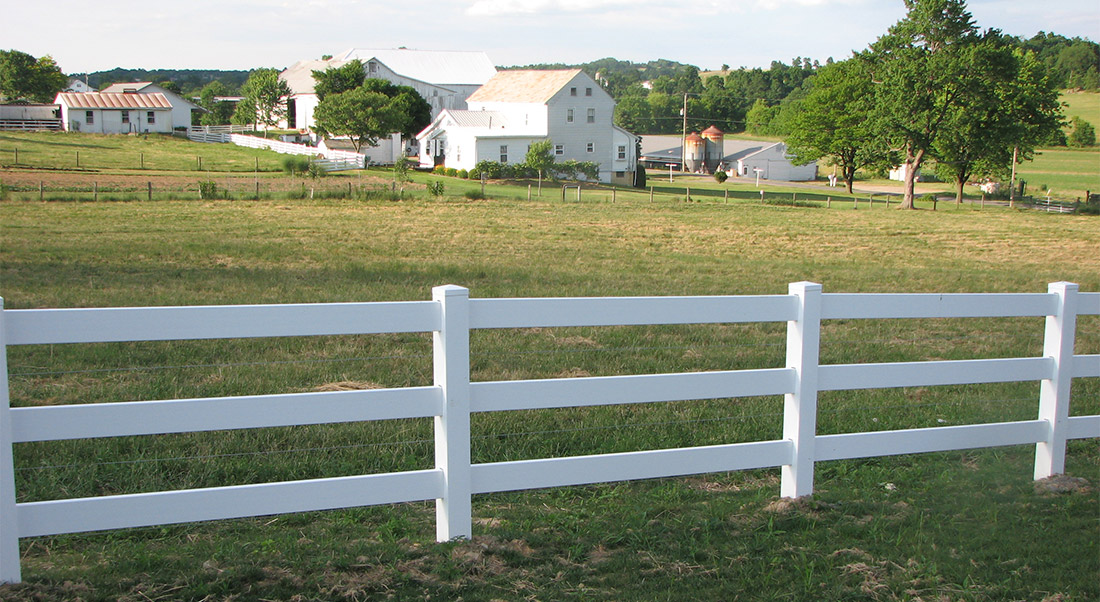 Vinyl Ranch Fence by Mt. Hope Fence